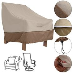 Waterproof High Back Patio Single Chair Cover Protection Furniture Beige Coffee * Want to know more, click on the image.