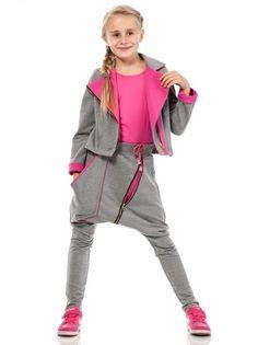 37091aee34b3 Dětské sportovní kalhoty s nízkým sedem KIDIN - šedá