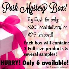 Have you looked over all the products and are having trouble on deciding? Let me help! With a mystery box i will include 3 full size products, some new samples and a catalog. Get yours while supplies last!