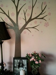 little girl room decor. brown and pink
