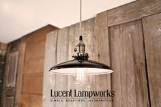 Hey, I found this really awesome Etsy listing at https://www.etsy.com/listing/84122379/lighting-with-black-enamel-shade