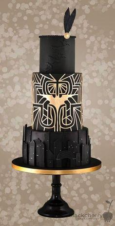 Modern Wedding Cakes Batman Wedding Cake made by The Little Cherry Cake Company Batman Wedding Cakes, Batman Cakes, Black Wedding Cakes, Gold Wedding, Marvel Wedding, Cake Wedding, Purple Wedding, Art Deco Cake, Cake Art