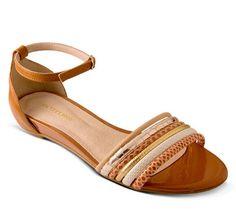 Sandália rasteira de couro caramelo | Sandálias | Bottero Calçados