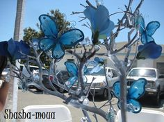 Blue Butterfly Centerpieces | LUUUX