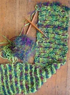 Free+Knitting+Pattern+-+Scarves%3A++Fizz+Eyelash+%26+Cotton+Chenille+Scarf