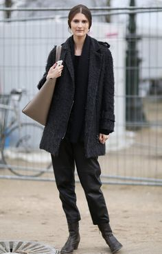 @roressclothes clothing ideas #women fashion black jacket, pants, street fall winter