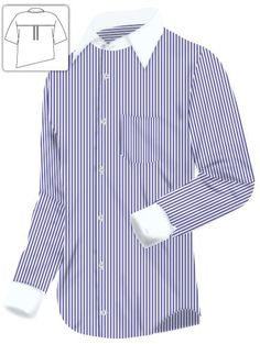 326de3869509 I love to wear classic mens dress shirts - blue and white pinstripe with  white collar