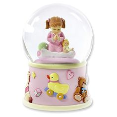 Bedtime Prayers Girl Rotating Waterglobe >>> Check out the image by visiting the link.