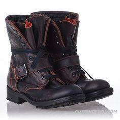Ash Women's Boots Bordeaux Leather Roses