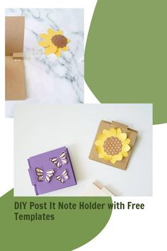 Cricut card project ,paper svg template ideas Post It Note Holders, Creative Crafts, Cricut, Notes, Craft Ideas, Templates, Paper, Projects, Cards