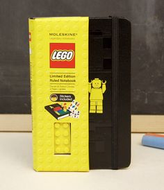 Limited Edition Lego Moleskine notebook... wonder if Todd would use this or if I'd end up stealing it from him...