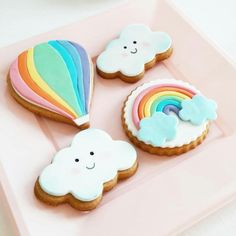 My Little Pony Birthday Party, Rainbow Birthday Party, Baby Girl Birthday, Rainbow Parties, Fondant Cookies, Iced Cookies, Cute Cookies, Rainbow Sugar Cookies, Rainbow Cookie