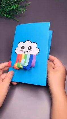 Paper Crafts Origami, Paper Crafts For Kids, Craft Activities For Kids, Preschool Crafts, Craft Kids, Diy Crafts Hacks, Diy Crafts For Gifts, Fun Crafts, Halloween Crafts For Kids