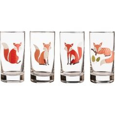Paper Source Fox Glasses | I don't need these but they are just fun!  ... Cute fox tattoo idea