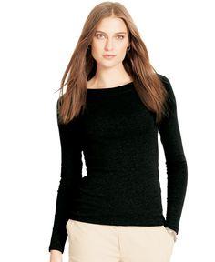 Lauren Ralph Lauren Petite Long-Sleeve Top