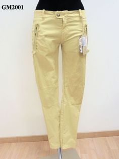Pantalone con tasche a cerniera tinto capo