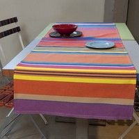 chemin de table tangerine Decoration Table, Furniture, Home Decor, Table Linens, Homemade Home Decor, Home Furnishings, Decoration Home, Arredamento, Interior Decorating