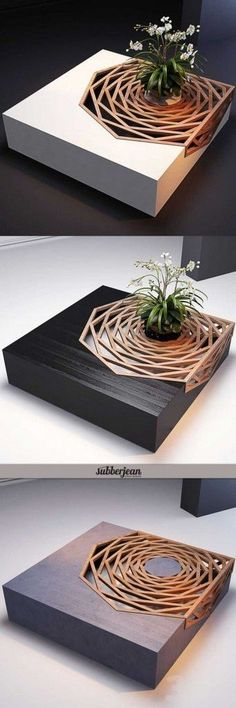 Wood Furniture: Gorgeous Design Wood Coffee Table Architecture I. Deco Design, Wood Design, Design Moderne, Rustic Design, Design Design, Home And Deco, Diy Furniture, Furniture Stores, Garden Furniture
