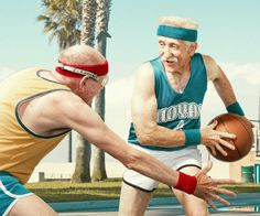 """Fine art photographers who are looking to add humor into their conceptual work will do well to learn from """"The Golden Years"""" by Dean Bradshaw. Photography Projects, People Photography, Basketball Photography, Old Folks, The Golden Years, Senior Fitness, Fitness Fun, Young At Heart, Aging Gracefully"""