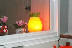 Coisas da Léia: Abacaxi da Dona Nenê - uma luminária divertida