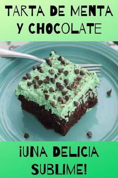 BIZCOCHUELOS: Las mejores recetas Menta Chocolate, Chocolate Cake, Mint Cake, Tasty, Yummy Food, Oreo, Frosting, Cookies, Desserts