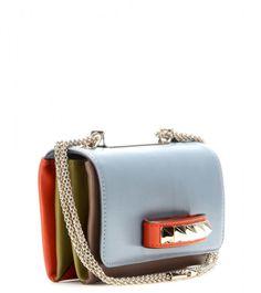 Valentino Va Va Voom Leather Shoulder Bag in Blue (olive grey multi made in italy) - Lyst