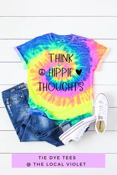 Our colorful tie dye shirt will brighten up your outfit! Wear it with denim cutoffs and sneakers. These shirts are made of 100% heavyweight cotton and have a crew neck and short sleeves. #tiedye #tiedyetops #hippiestyle #hippietiedye Cool Tie Dye Shirts, Tie Dye Tops, Cool Ties, Hippie T Shirts, Hippie Tops, Hippie Style, Hippie Fashion, Beach Shirts, Denim Cutoffs