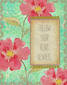 Floral Art Print Vintage Illustration Quote by stephanieryanart, $22.00