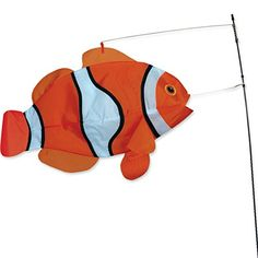 Swimming Fish - Clown Fish, 2015 Amazon Top Rated Kites & Wind Spinners #Lawn&Patio