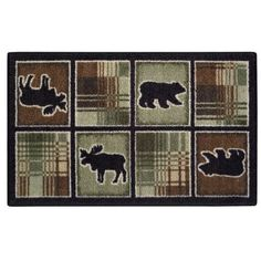 Lodge Plaid Printed Rug: Shopko