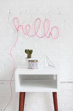 Brighten up your space with this surprisingly easy neon light project