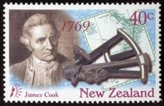 James  Cook auf Briefmarke von Neuseeland 1997 Captain James Cook, Reptiles And Amphibians, Postage Stamps, New Zealand, Literature, Colonial, Medicine, Birds, Culture