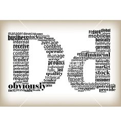 Letter d filled by business words vector image on VectorStock Big Letters, Letter D, Letters And Numbers, Typography Letters, Graphic Design Typography, Office Wall Graphics, D Book, Drop Cap, Promotional Design