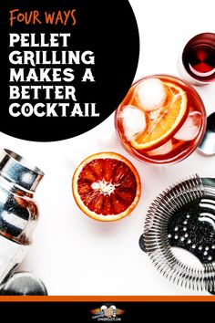 Cocktail Recipe Tips. If you're looking to handcraft the perfect cocktail, try some of these tips. Pairing an alcoholic drink with your BBQ dinner is easy if you pair the flavors by pellet grilling some of your drink ingredients. Here's a way to turn mixed drinks into a smoker recipe! Smoked Cocktails, Fun Cocktails, Pellet Grill Recipes, Smoker Recipes, Cocktail Garnish, Cocktail Recipes, Grilling Tips, Grilling Recipes, Recipe Tips