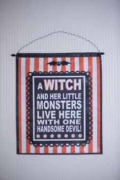 Canvas- A Witch and Her Little Monsters...so cute!