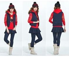 2014 New Fashion Eyes Printed Hooded Women Sweat Suits Leisure Jogging Yoga 3pcs Hoody+Vest+Skirt Sweatpants Winter Tracksuits J