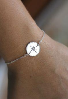 Kompass Armband beste Freund Geschenk Long von LRoseDesigns auf Etsy