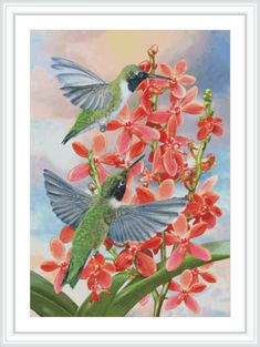 Bird Counted Cross Stitch Pattern  Large Cross by GCStitchDIY