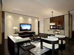 Service apartment design  Teak and vanilla
