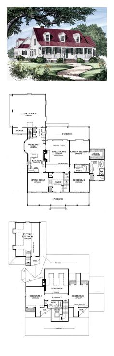 Colonial House Plan 86133 | Total Living Area: 2419 sq. ft., 4 bedrooms and 3 bathrooms. #colonialhome