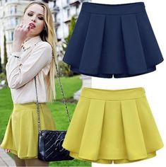 Gender: Women Waistline: Natural Pattern Type: Solid Style: Fashion Material: Polyester Dresses Length: Above Knee, Mini Silhouette: A-Line Fabric Type: Satin Color Style: Natural Color School Fashion, Diy Fashion, Ideias Fashion, Autumn Fashion, Fashion Dresses, Womens Fashion, Fashion Shorts, Style Fashion, Elegant Woman