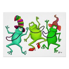 Three Dancing Frogs By Dancing Frogs-makes me think of my  mom and the new millenium