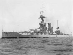 13.5 in super-dreadnought HMS Iron Duke at Malta in September 1919: lead ship of her class, she was Admiral Jellicoe's flagship during his tenure as Commander in Chief of the Grand Fleet, including at Jutland in May 1916.  When he took over Beatty soon sensed her crew's unshakeable loyalty to his predecessor, and moved his flag to HMS Queen Elizabeth.