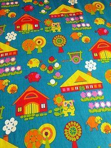 RETRO FABRIC sew no cult vintage 70s radical 2 times 118 x 60 children Graziela