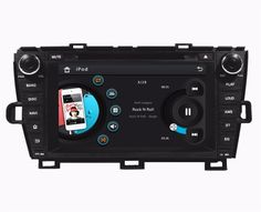 """HD 2 din 8"""" Car Radio DVD Player for Toyota Prius 2009 2010 2011 2012 2013 With GPS Navigation Bluetooth IPOD TV SWC AUX IN #Affiliate"""