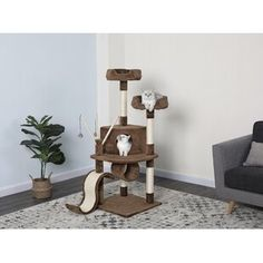 Go Pet Club Perfect for felines with a sense of adventure, this free-standing cat tree showcases 3 sisal scratching posts and a hideaway condo. Cat Tree Condo, Cat Condo, Pet Sematary, Condo Furniture, Sisal Rope, Pets For Sale, Brown Cat, Chicken Runs, Pet Paws