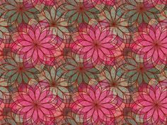Love the kaleidoscopic hot #pink and dusty #teal flowers. #color