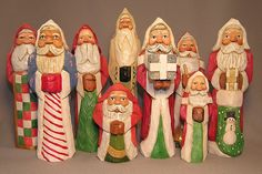 Group of Santas