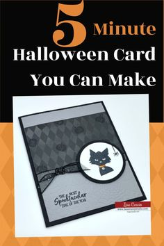 Spooky? No! It's a Cute DIY 5 minute Halloween card you can make. Let's get ready to have a delightful halloween with this craft idea. www.lisasstampstudio.com #halloweencards #holidaycards #cardmakingideas #cardmaking #cardmakingtutorials #greetingcardshandmade #lisasstampstudio #lisacurcio #stampinup #stampinupcards Card Making Supplies, Card Making Tutorials, Card Making Techniques, Making Ideas, Halloween Paper Crafts, Up Halloween, Halloween Cards, Homemade Greeting Cards, Greeting Cards Handmade