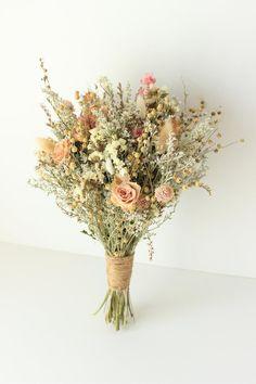 Dried Flower Bouquet, Flower Bouquet Wedding, Dried Flowers, Rose Flowers, Herb Bouquet, Flower Bouquets, Bridal Bouquets, Larkspur Flower, Bouquet Champetre
